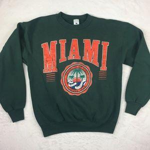Vintage Miami Hurricanes Sweatshirt 90s Spellout L